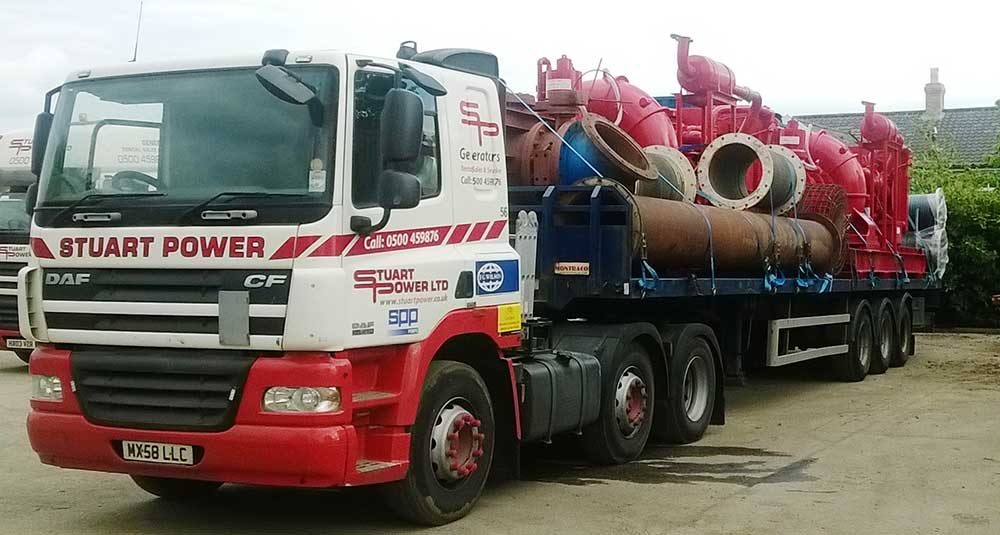 Pumps going to scotland Loaded at Stuart Pumps in Norfolk